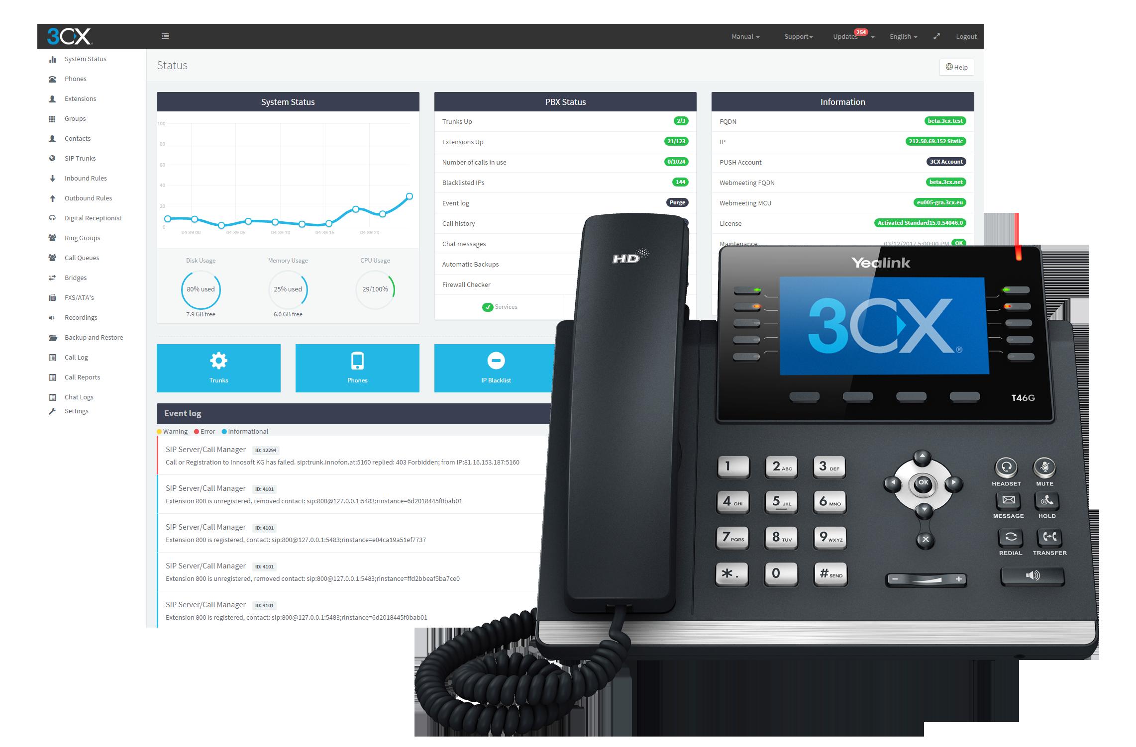 3CX VoIP - Private Universe