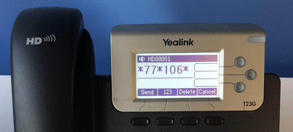 The dial code to log into a hotdesking phone