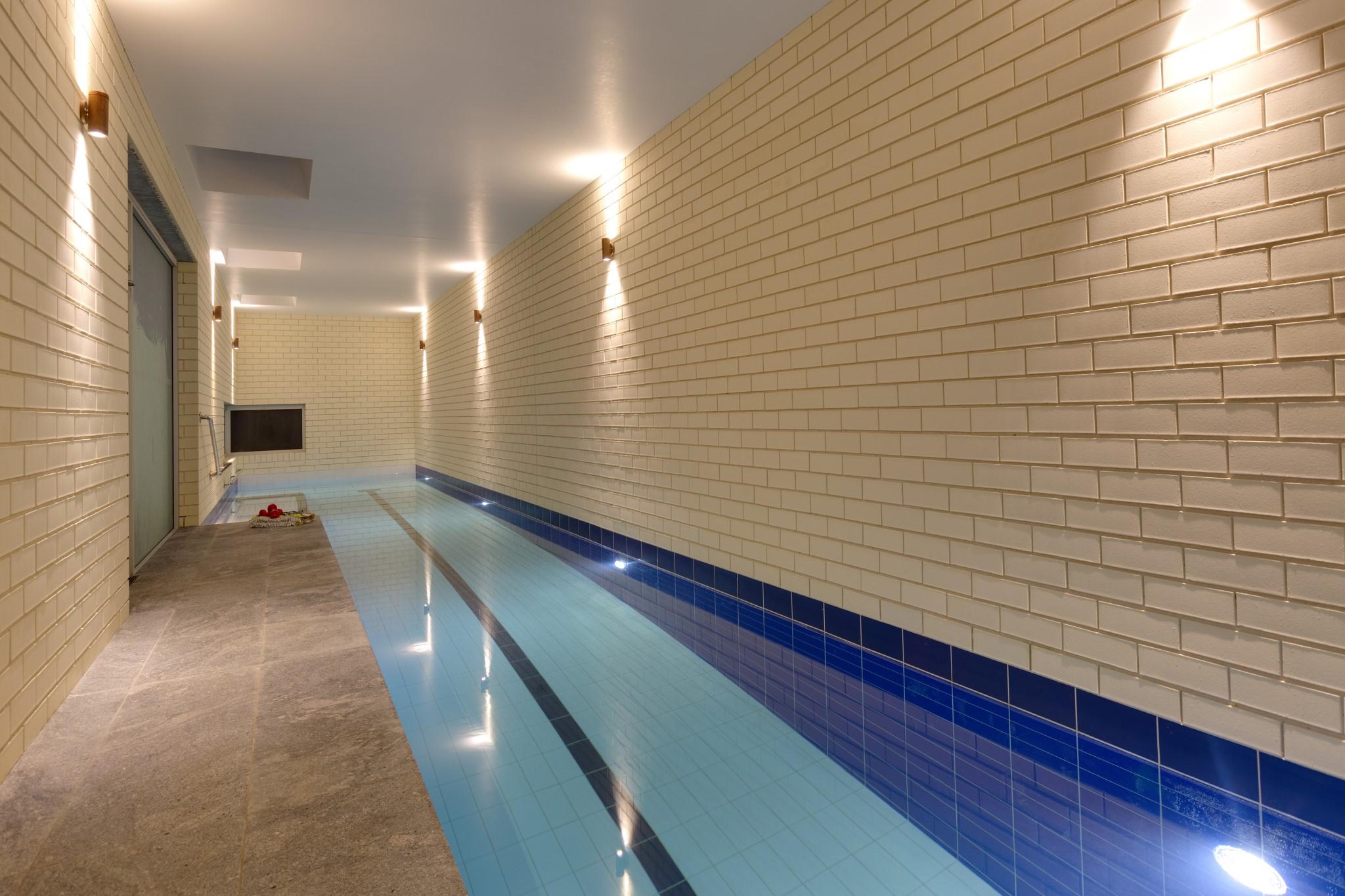 Fully Tiled Ceramic Lap Pool in Lane Cove