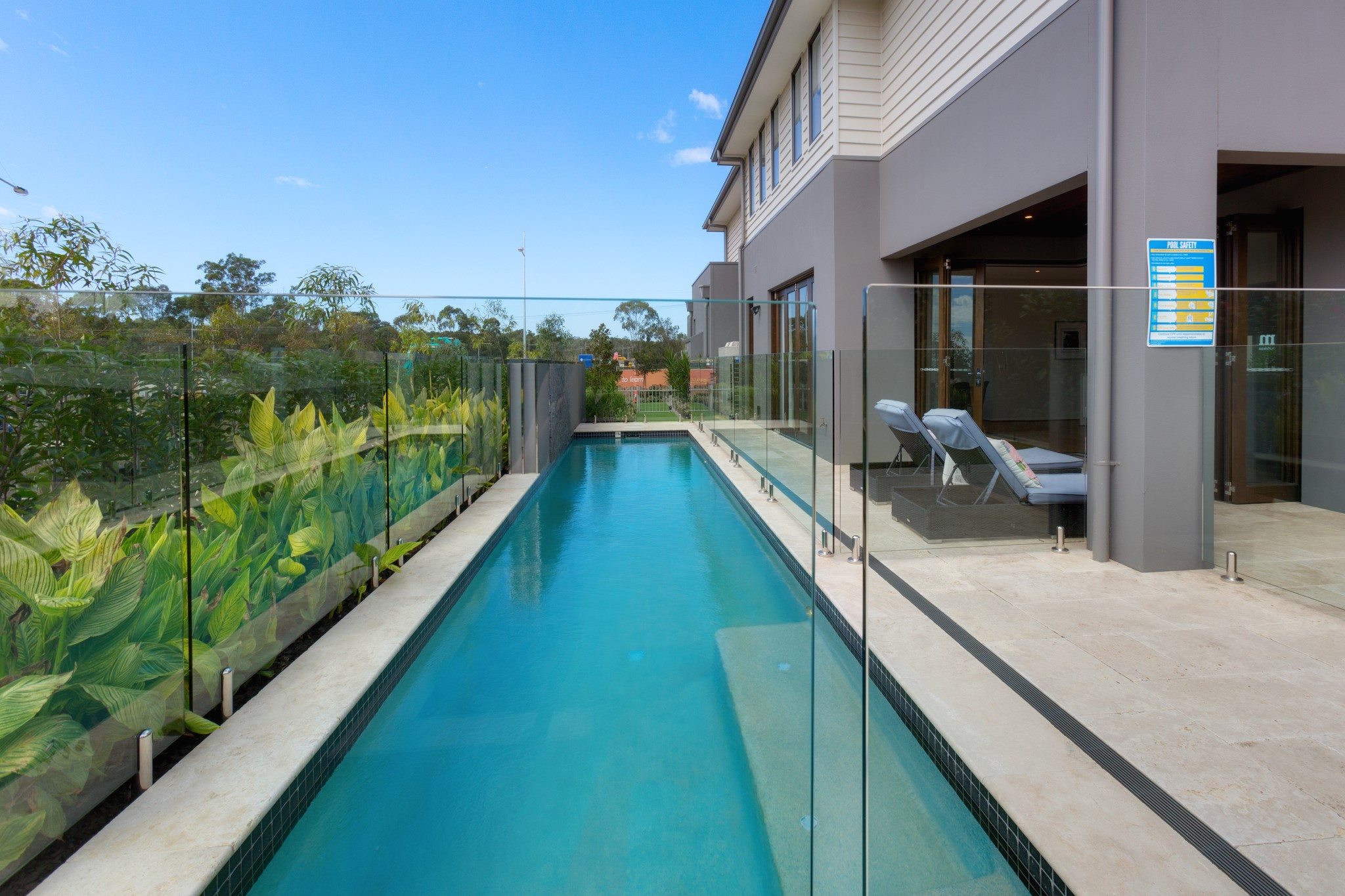 Fitness and Lap pool and Grey color house