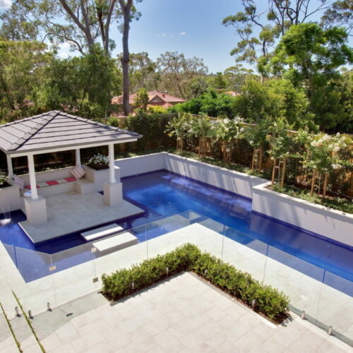 Fully Tiled Glass Mosaic Fitness pool in Oatley