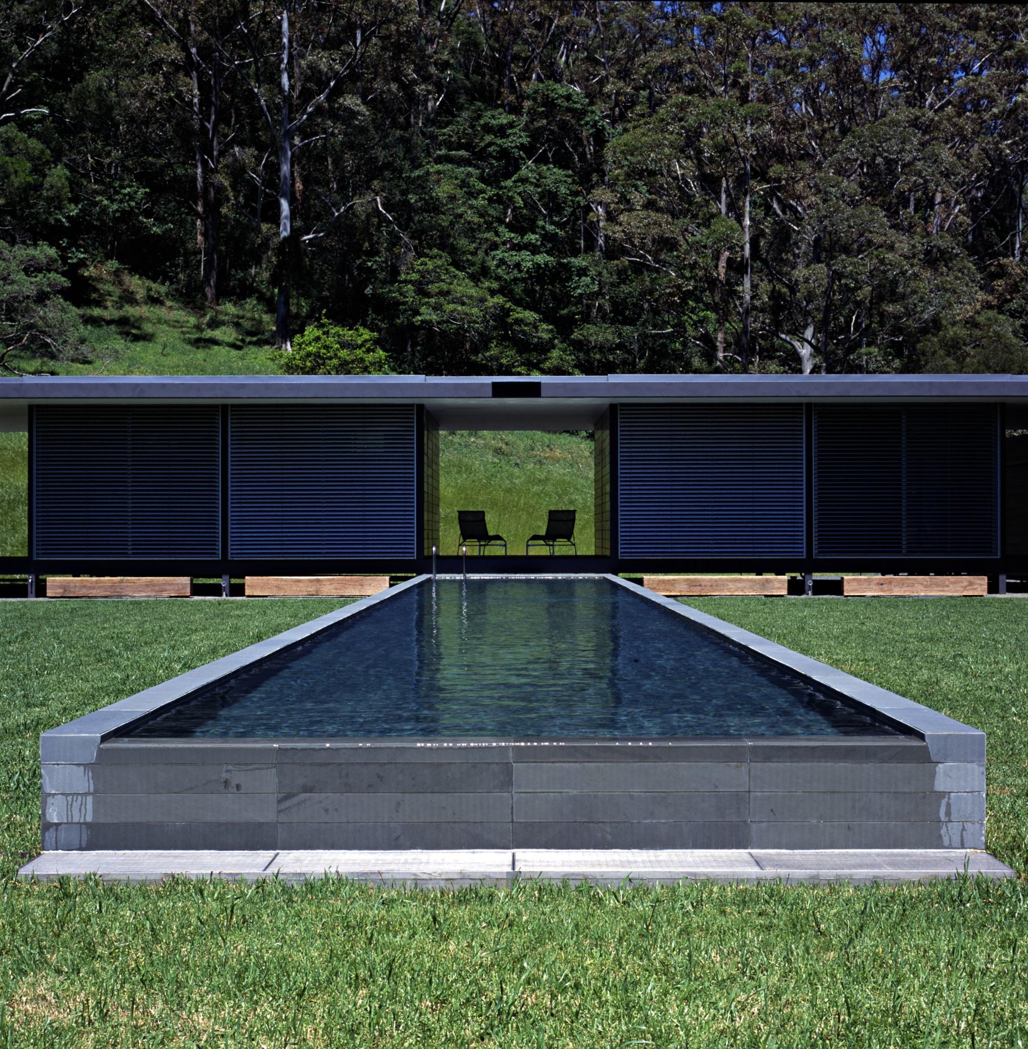 Luxury swimming pool lap design in gray tones