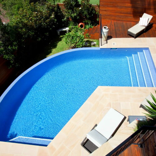 Fully Tiled Glass Mosaic Pool in Collaroy