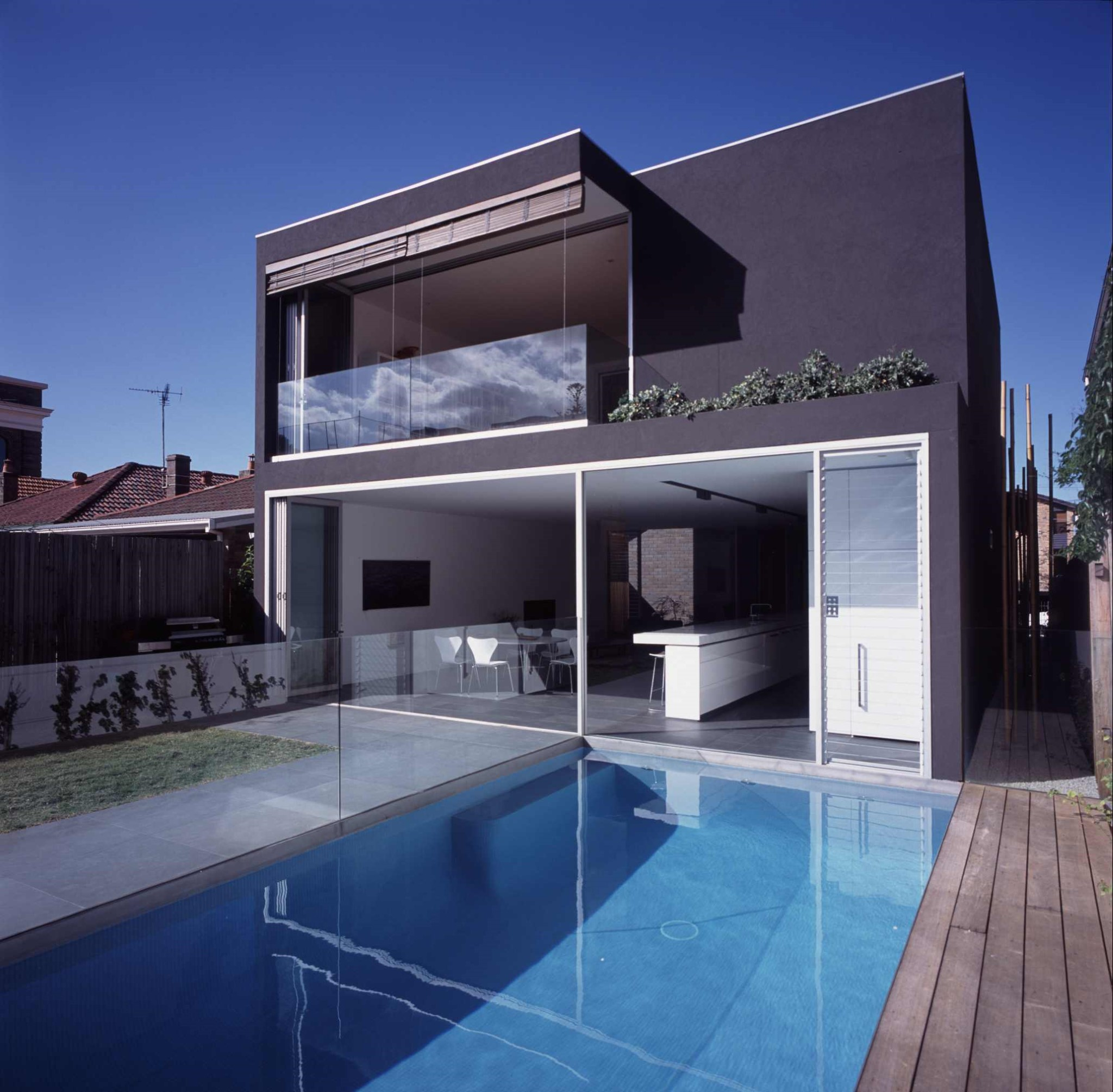 Fully Tiled Glass mosaic pool with Stone, Timber Deck in Kensington