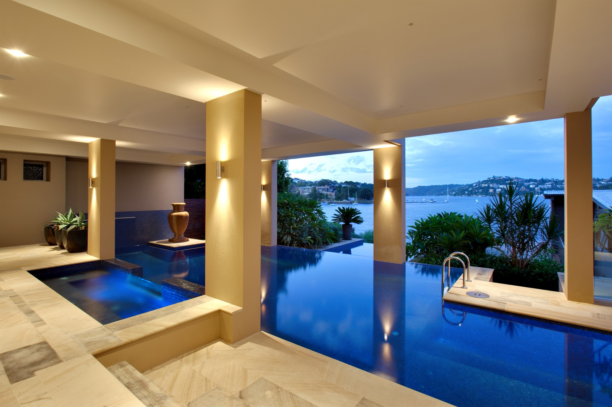 Fully Tiled Glass Mosaic Fitness pool in Mosman