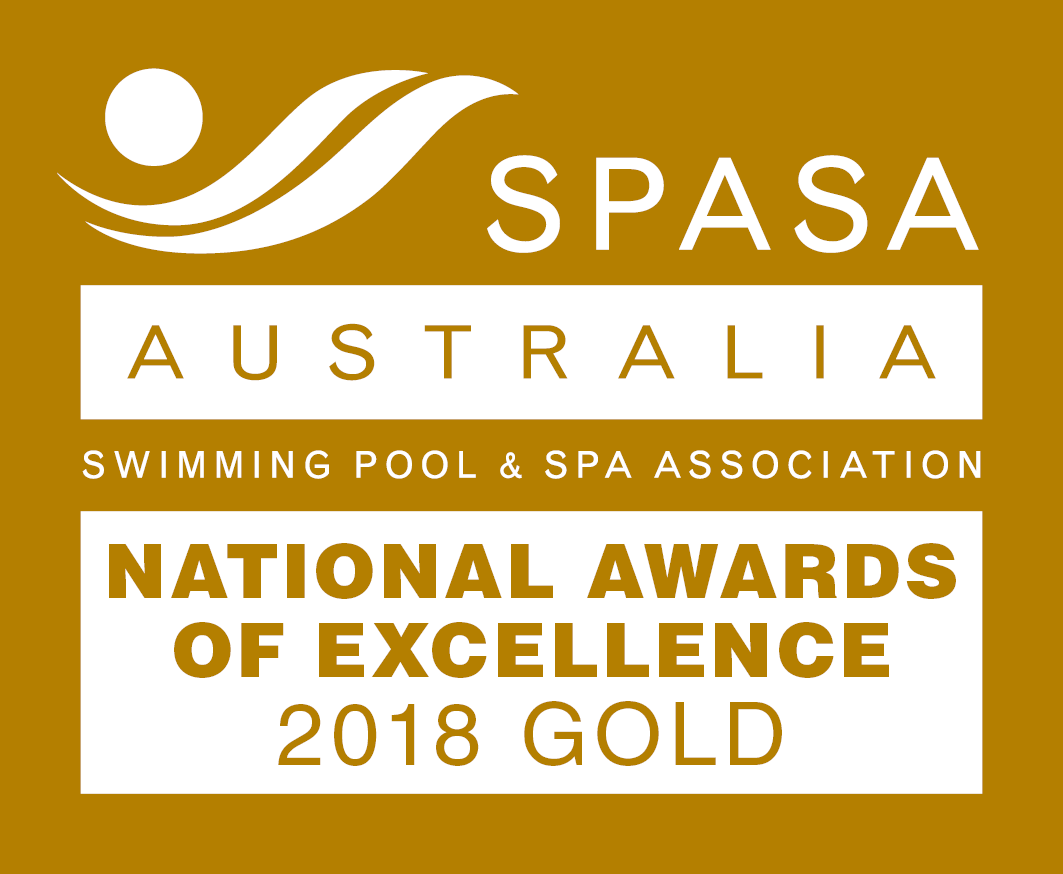 SPASA Australia Swimming Pool & SPA Association's national award of excellence 2018 Gold