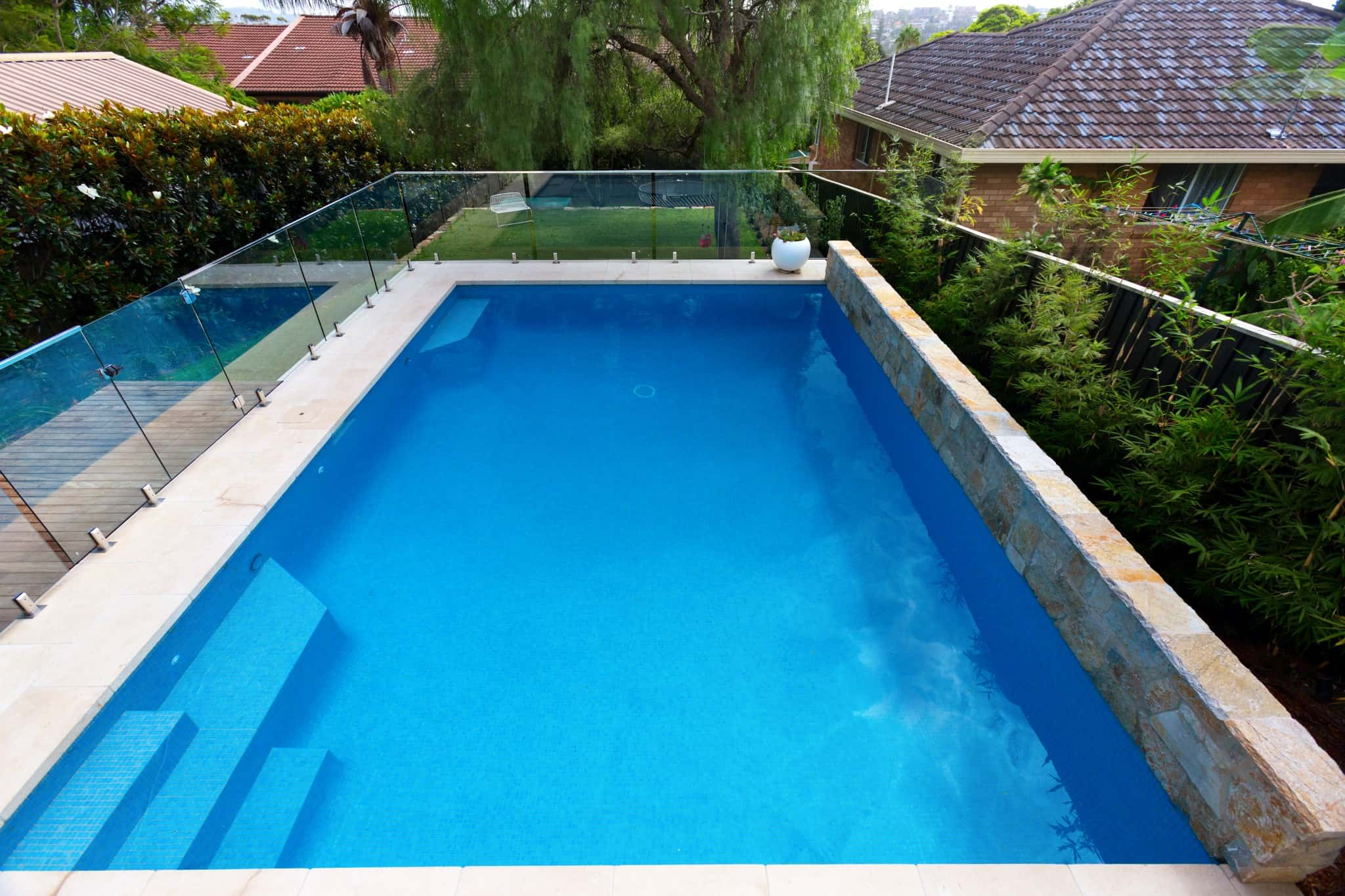 A small glass mosaic pool in Manly